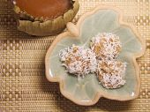 Sticky Ti Kuih - Chinese Dessert With Grated Coconut
