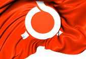 stock photo of fukushima  - Flag of Fukushima Prefecture Japan - JPG