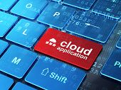 Cloud computing concept: Cloud Network and Cloud Application on
