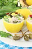 Stuffed Lemons With Tuna Cream
