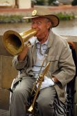 Playing Jazz On The Charles Bridge