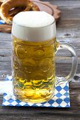 A Large Beer Mug With Beer