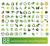 stock photo of environmentally friendly  - Vector set of environmental  - JPG