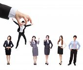 foto of candid  - Human Resources concept - JPG