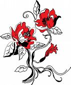Flower sketch  set