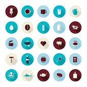 stock photo of keg  - Icons for coffee - JPG