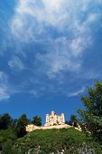 Castle Hohenschwangau In Bavaria And Beautiful Blue Sky