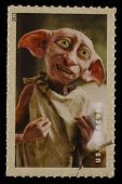 UNITED STATES - CIRCA 2013: postage stamp printed in USA showing an image of Dobby a Harry Potter main character, circa 2013.