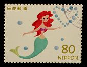 JAPAN - CIRCA 2012: A stamp printed in Japan shows Ariel, circa 2012