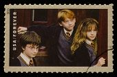 UNITED STATES - CIRCA 2013: postage stamp printed in USA showing an image of Harry Potter, Ron Weasl