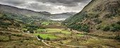 Panorama Landscape Snowdonia National Park Wales United Kingdom