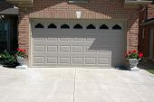 Garage Door Cement Driveway
