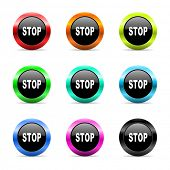 web buttons set on white background