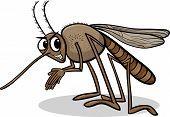 image of mosquito  - Cartoon Illustration of Funny Mosquito Insect Character - JPG