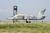 Military Aircraft Aero L-39 Albatros At The Airport In The Crimea