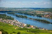 Ruedesheim Town On The Bank Of Rhein River, Rhein-main-pfalz, Germany