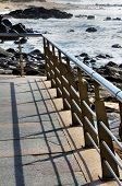 Balustrade over the beach