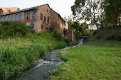 foto of water-mill  - old brick water mill in the countryside - JPG