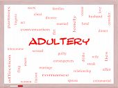 Adultery Word Cloud Concept On A Whiteboard