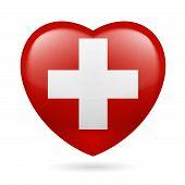 Heart icon of Switzerland