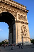 A fragment of the triumphal arch in Paris