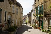An Ancient Lane In The Vezelay Village In Burgundy, France