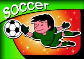 cartoon soccer player goalkeeper