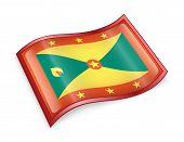 Grenada Flag Icon.