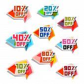 Vector Discount Labels Set