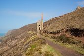 Cornish tin mine England UK