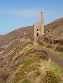 Ruins of English tin mine Wheal Coates near St Agnes Head in Cornwall UK
