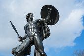 Statue of Achilles in Hyde Park, London, UK, dedicated to the Duke of Wellington and forged with the