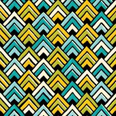 Hand drawn seamless colorful pattern.