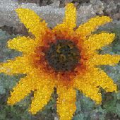 Flower Glass Mosaic Generated Texture