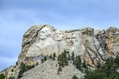 picture of mount rushmore national memorial  - Presidents of Mount Rushmore National Monument South Dakota USA