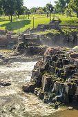 Waterfalls In Sioux Falls, South Dakota, Usa