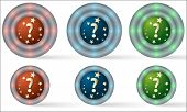 Set Of Six Icons With Question Mark