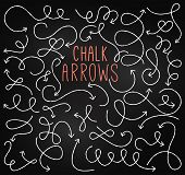 Chalkboard Style Doodle Hand Drawn Vector Arrows