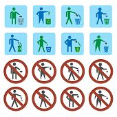 Litter icons set