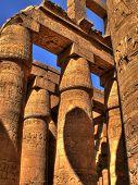 Hypostyle Hall Detail Of Karnak (luxor, Egypt)