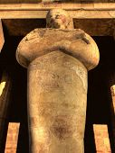 foto of hatshepsut  - Detail of one of the Hatshepsut statues at the entrance of his temple at Deir el - JPG