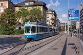 Tram In Zurich