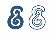 Custom ampersand symbol. Vector illustration