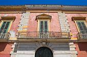Historical palace. San Severo. Puglia. Italy.