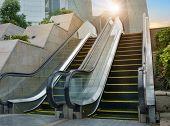 Escalator of Shanghai streets