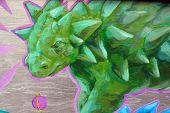 dinosaur Street art Montreal