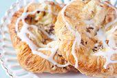 Close Up Danish Pastries