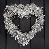 pic of scottish thistle  - Heart shaped christmas wreath with silver scottish thistle - JPG