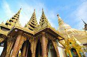 stock photo of yangon  - Shwedagon Pagoda a landmark in Yangon Myanmar - JPG