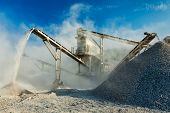 stock photo of sand gravel  - Industrial background  - JPG